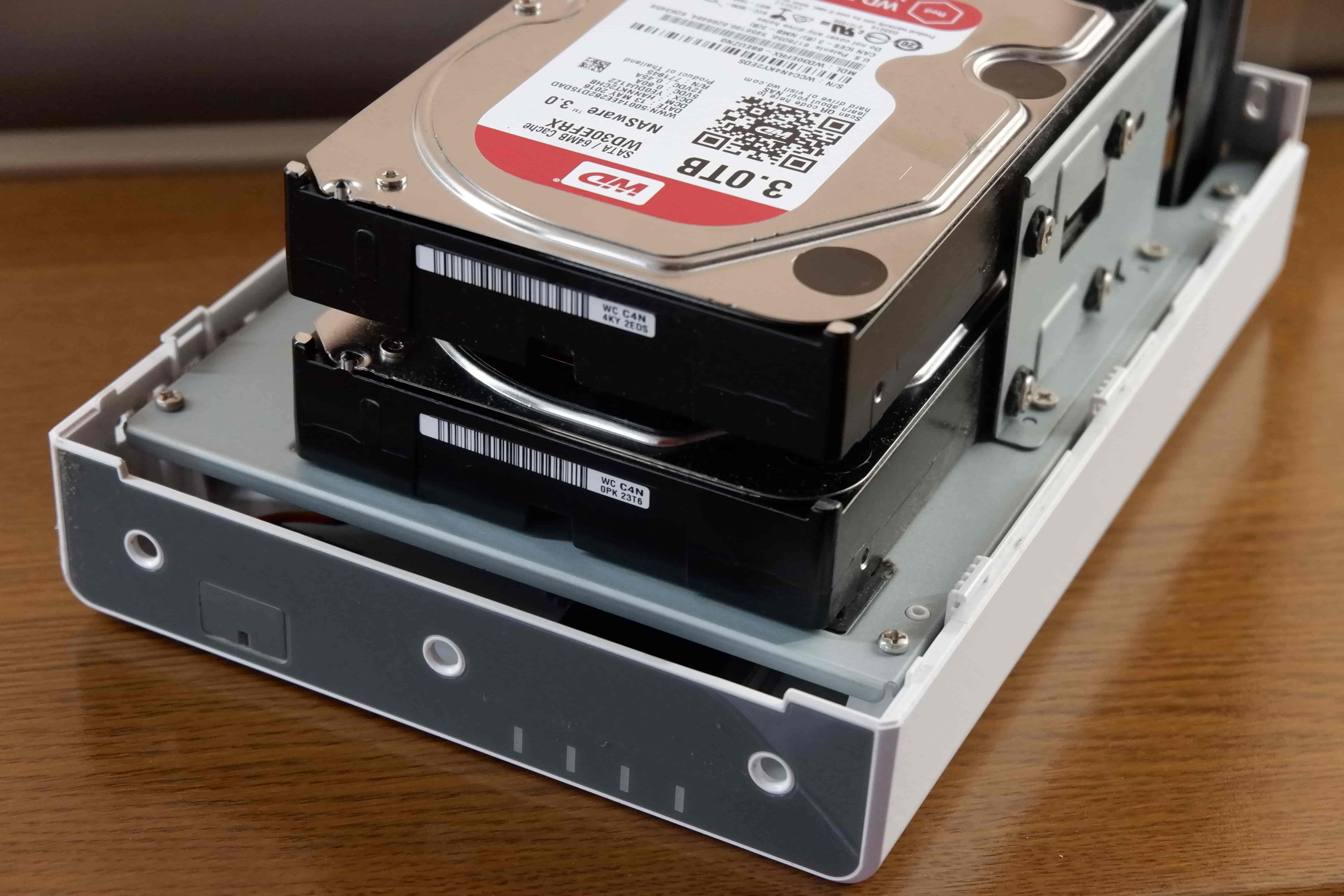 Synology DS216j HDD
