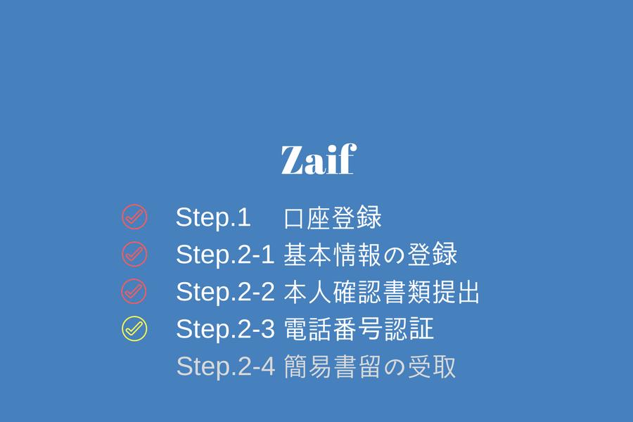 Zaif - 電話番号認証