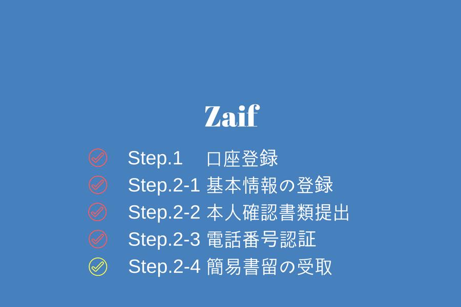 Zaif - 簡易書留の受取