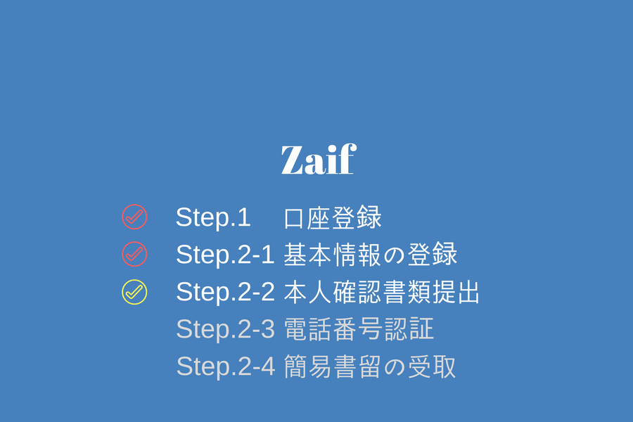 Zaif - 本人確認書類の提出