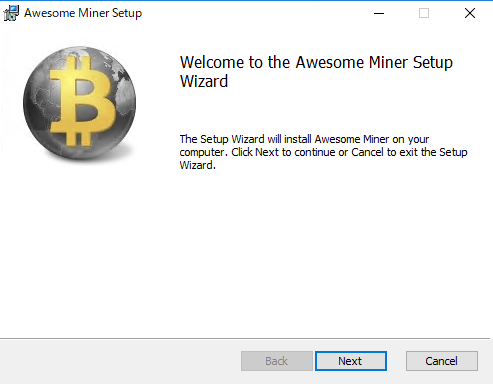 Awesome Miner - インストール