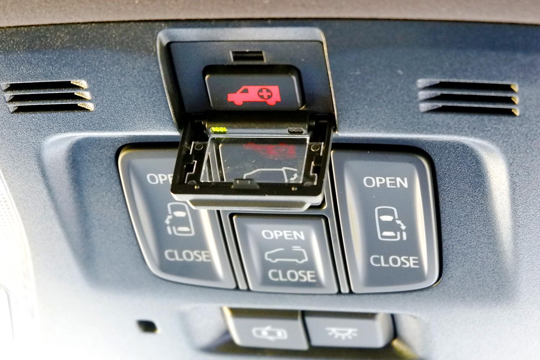 新型ヴェルファイア - オーバーヘッドコンソールヘルプネットボタン