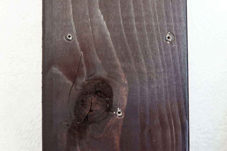 2×4材 - 下穴