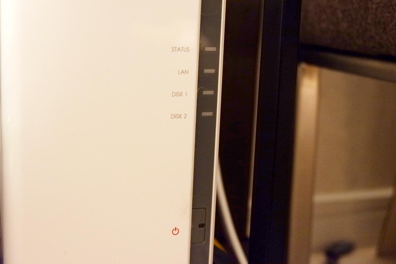 DS216j - LED消灯