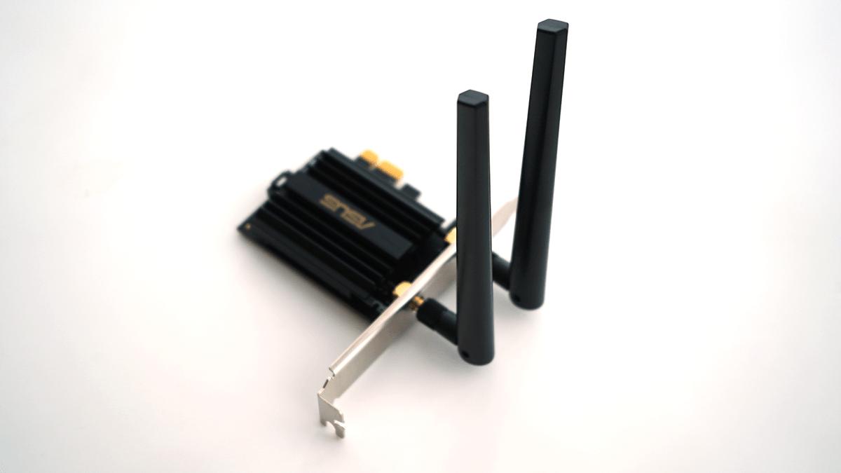 PCE-AX58BTとアンテナを直結した例