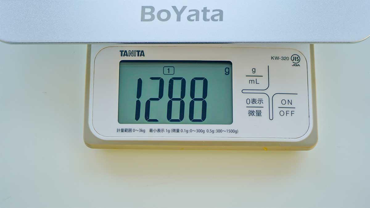 BoYata BST-10 - 重さ