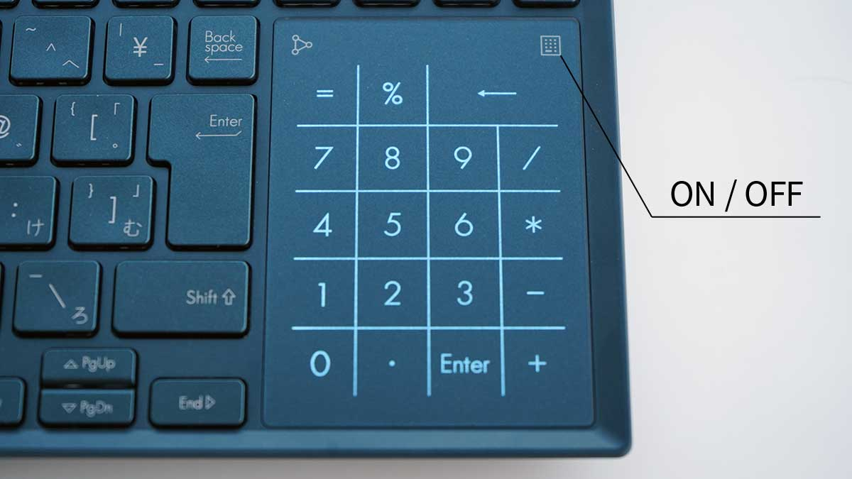 ASUS ZenBook Pro Duo UX581GV - NumberPad 2.0