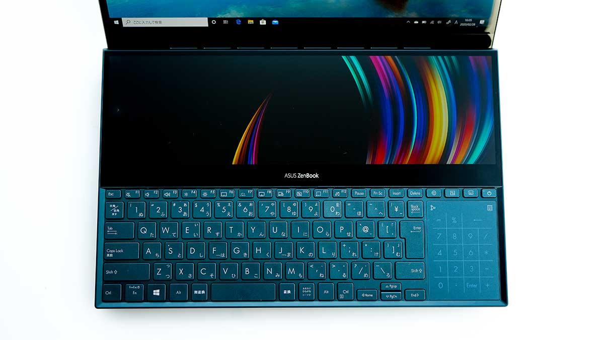 ASUS ZenBook Pro Duo UX581GV - キーボード